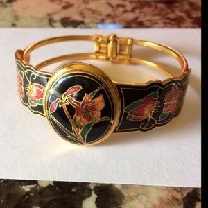 Jewelry - Vintage Cloisonne Bracelet with Lockett